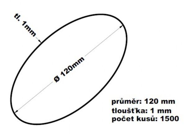 Gumičky svazkovací - 120 mm 1 mm síla
