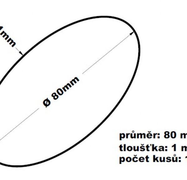 Gumičky svazkovací - 80 mm tl. 1mm