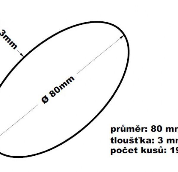 Gumičky červené silné (3 mm Ø 8 cm) [1 kg] (64308)