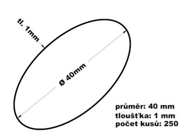 Gumičky svazkovací 40 mm síla 1 mm- 100 gr