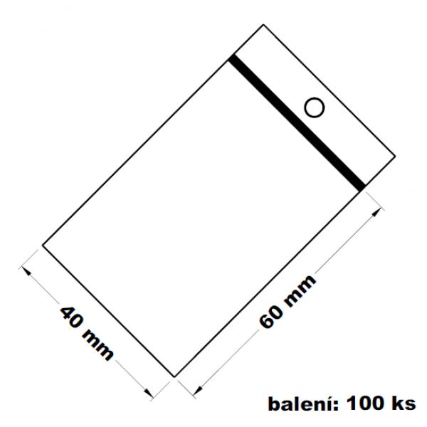 Rychlouzavírací sáček s dírkou 4x6 100 ks