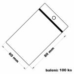 Rychlouzavírací sáček s dírkou 6x8 100 ks