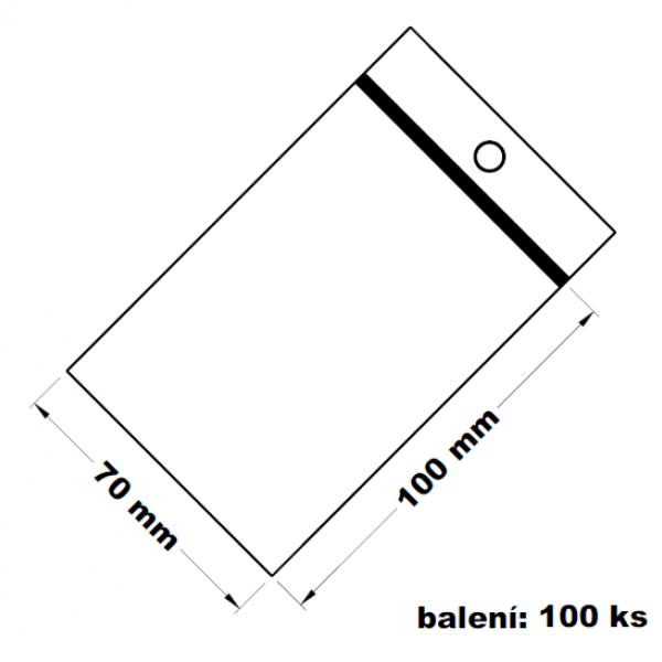 Rychlouzavírací sáček s dírkou 7x10 100 ks