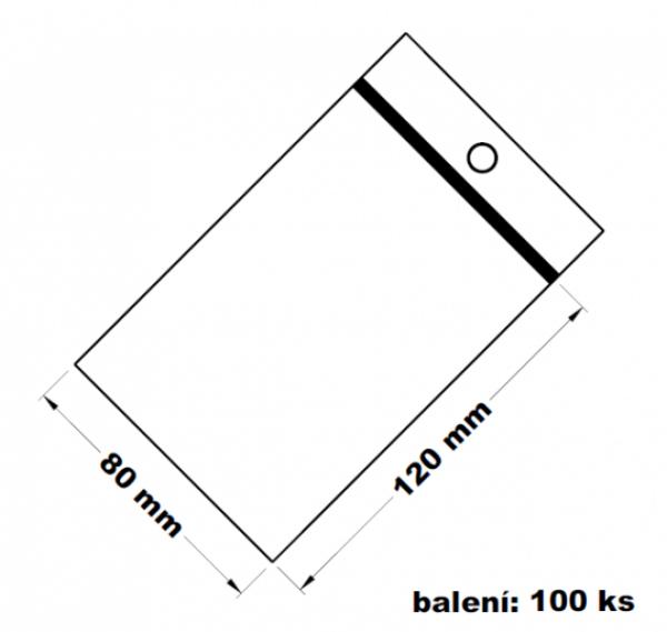 Rychlouzavírací sáček s dírkou 8x12 100 ks