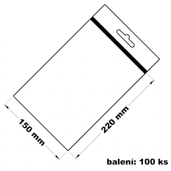 Rychlouzavírací sáček s eurovýsekem 15x22 100 ks