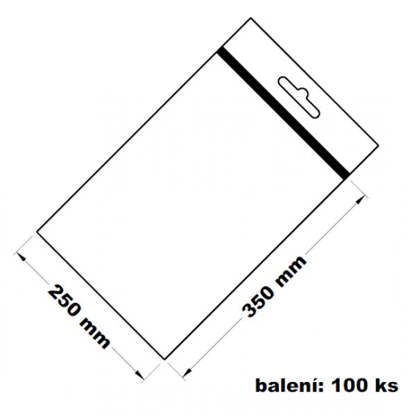 Rychlouzavírací sáček s eurovýsekem 25x35 100 ks