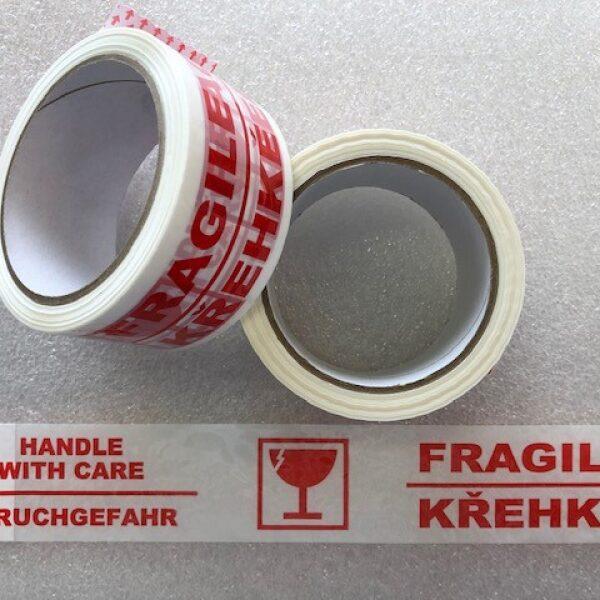 Lepící páska křehké