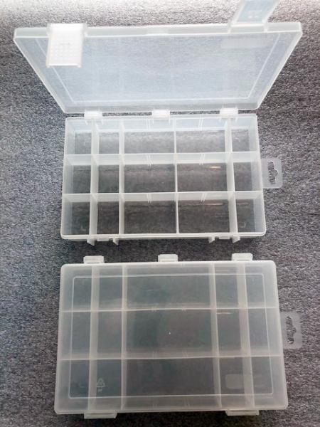 Organizér  čirý 251645-plastová krabička na kancel.a drobné předměty