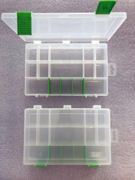 Organizér  čirá/zelená 251645-plastová krabička na kancel.a drobné předměty