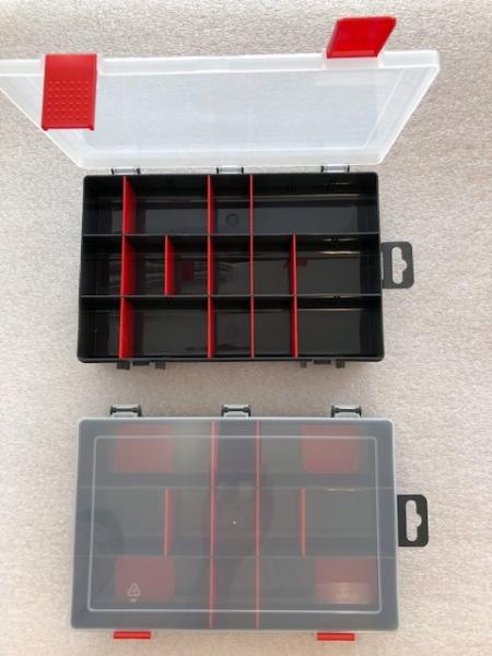 Organizér  antracit/červená 251645-plastová krabička