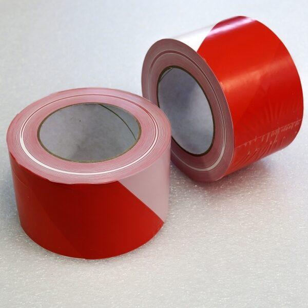 Páska výstražná červeno-bílá
