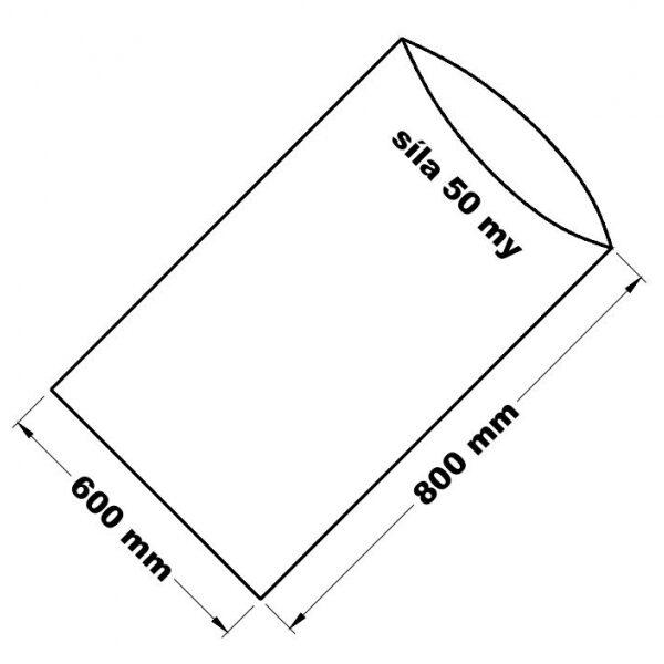 PE sáček průhledný - 600 x 800 mm /0